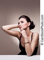 wyłączny, kobieta, biżuteria