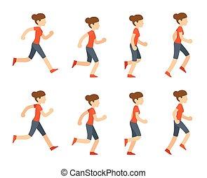 wyścigi, kobieta, ożywienie