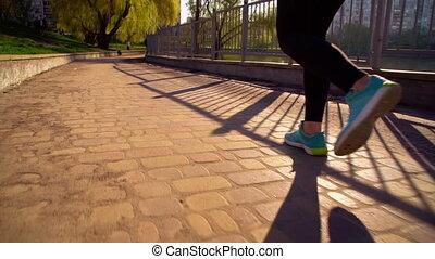 wyścigi, kobieta, outdoors