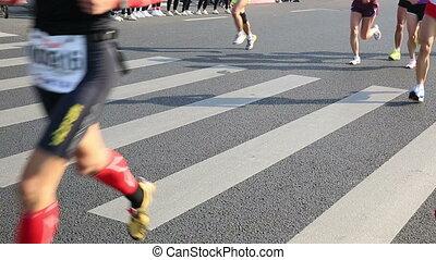 wyścigi, maraton, prąd