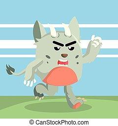 wyścigi, zrzędny, potwór