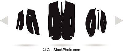 wybór, garnitur