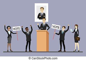 wybór, samiec, kandydat, trybun, polityk, reputacja, kampania