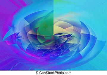 wybuch, abstrakcyjny, wypośrodkowany, multicolor, tło, modny, piękny