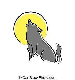 wycie, symbol, wilk