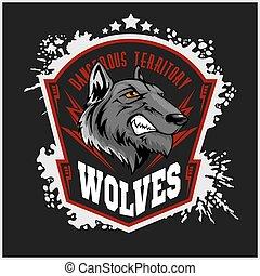wycie, wolves, wolf., mascot., lekkoatletyka