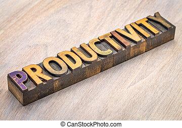 wydajność, abstrakcyjny, drewno, słowo, typ