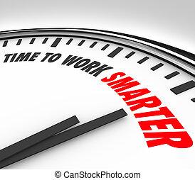 wydajność, zegar, smarter, porada, praca, skuteczność, czas