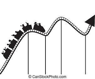 wykres, coaster, wałek