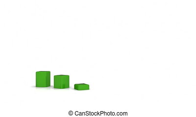 wykres, dane, handlowy, 3d