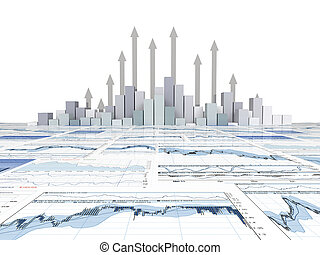 wykres, finansowa mapa morska