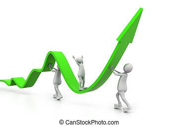 wykres, rozwój, ludzie handlowe