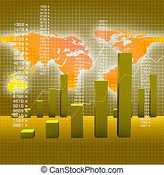 wykresy kartują, handlowy