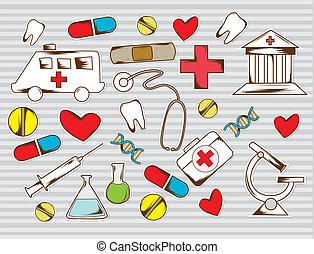 wyposażenie, baground, medyczny