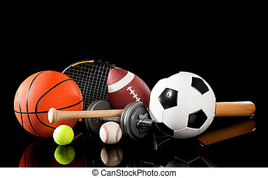 wyposażenie, dobrany, czarnoskóry, lekkoatletyka