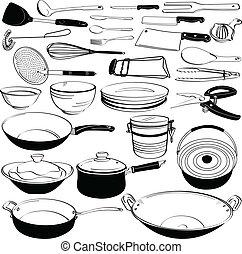 wyposażenie, instrument, kuchenny sprzęt