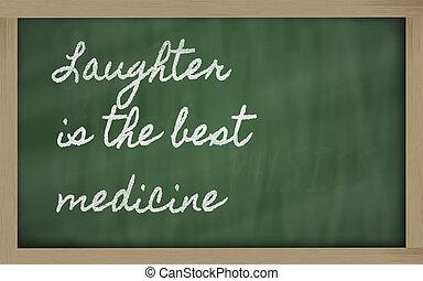 wyrażenie, śmiech, -, najlepszy, medycyna