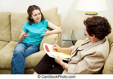 wyrażenie, terapia, zawód, -