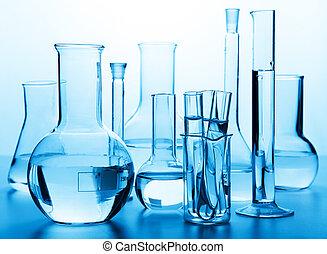 wyroby szklane, laboratorium, chemiczny