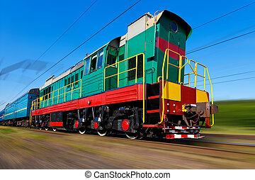 wysoka szybkość pociąg, diesel