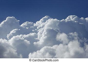 wysoki, cumulus, wysokość, chmury