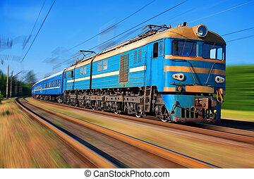 wysoki, osobowy pociąg, szybkość