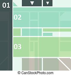wysoki tech, projektować, infographics