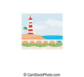 wyspa, latarnia morska