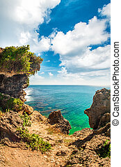wyspa raju, prospekt, tropikalny, zdumiewający, kaprys, idylliczny
