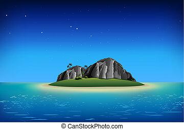 wyspa, skalisty