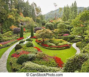 wyspa, sunken-garden, vancouver