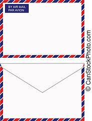 wysyłać pocztą kopertę, powietrze