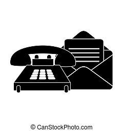 wysyłać pocztą kopertę, telefon
