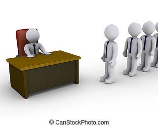 wywiad, biuro