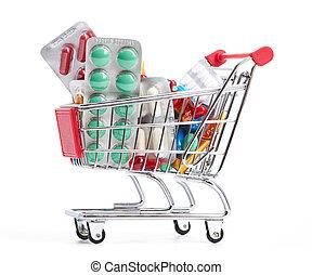 wywrotka, medycyna, zakupy, pigułki