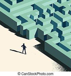 wyzwanie, handlowy, na przodzie