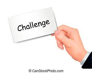 wyzwanie, karta ręka