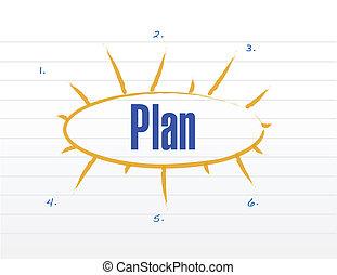 wzór, projektować, plan, ilustracja