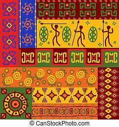 wzory, abstrakcyjny, upiększenia, etniczny
