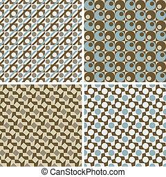 wzory, geometryczny, retro