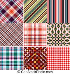 wzory, komplet, seamless