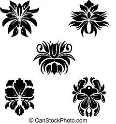 wzory, kwiat