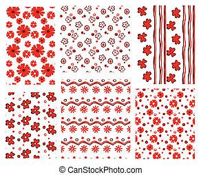 wzory, kwiatowy
