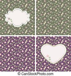 wzory, valentine, seamless, on