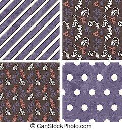 wzory, wektor, dekarstwo, seamless