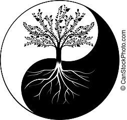 yang, drzewo, yin