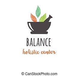 yoga, wellness, -, akwarela, medycyna, wektor, ikona, logo, alternatywa