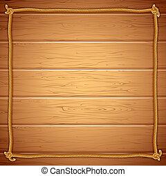 yuor, ułożyć, wood., związać, wektor, szablon, tekst