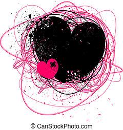 złamany, grunge, serce