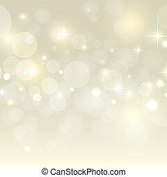 złoty, bokeh, wektor, święto, tło